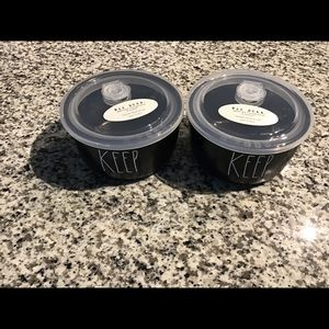 Rae Dunn set of 2 KEEP containers